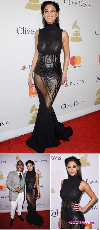 Никол Шерцингер със секси рокля на червения килим на Грами