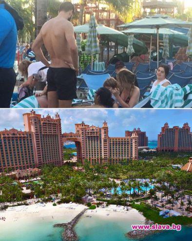 Пике и Шакира събират тен на Бахамите