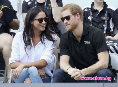 Принц Хари заведе Меган на чаено парти при кралица Елизабет II