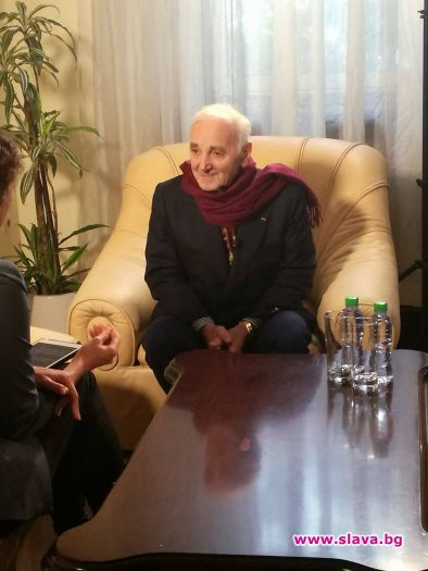 Шарл Азнавур пристигна в София