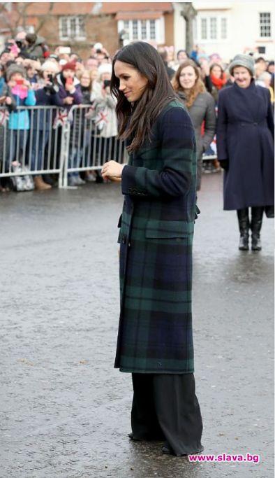 Меган Маркъл блесна с шотландско каре в Единбург