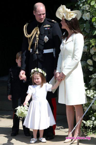 Кейт и децата възхитиха на сватбана Хари и Меган