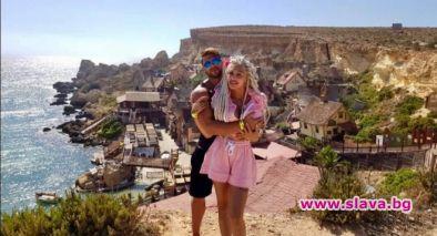 Джулиана Гани на екзотична почивка в Малта