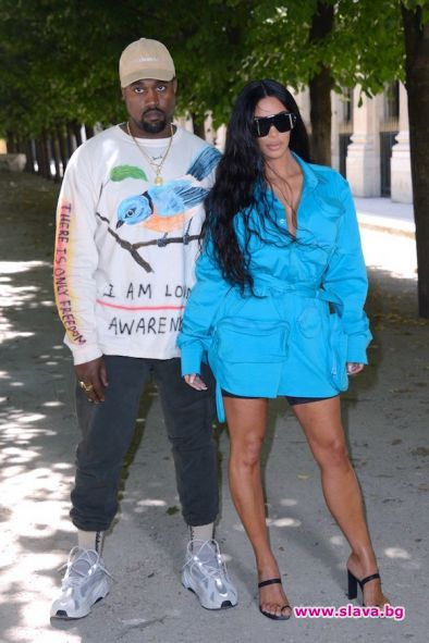 Ким и Кание се завърнаха в Париж