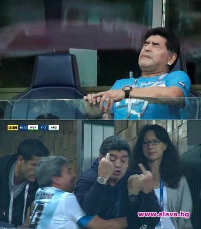 Марадона се докара до лекар по време на мача Аржентина - Нигерия