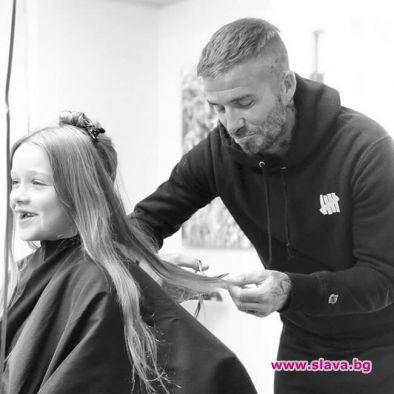 Дейвид Бекъм отряза косата на дъщеря си