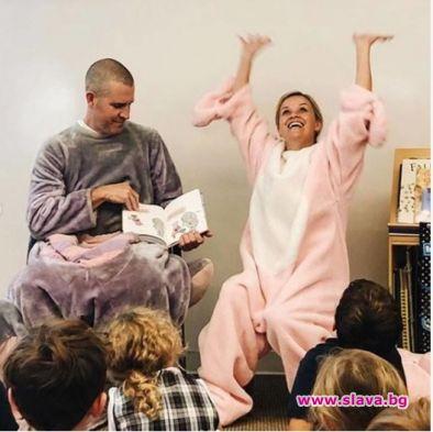 Рийз Уидърспун и съпругът се превърнаха в прасенце и слонче