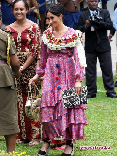Евакуираха Меган Маркъл от пазар във Фиджи