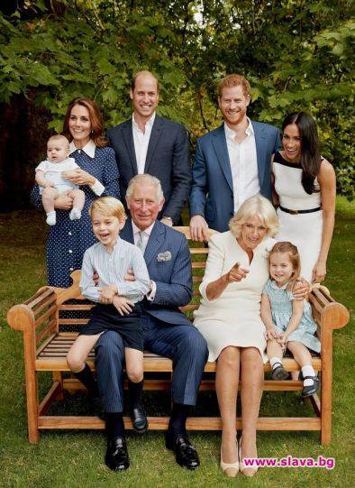Чарлз на 70 г.: Пуснаха нов семеен портрет за ЧРД
