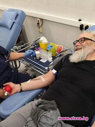 Актьори дариха кръв безвъзмездно
