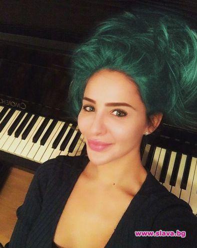 Елен Колева боядиса косата си в зелено