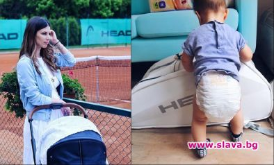 Цвети Пиронкова прави бебето тенисист