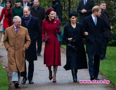 Кралското семейство посрещна задружно Коледа