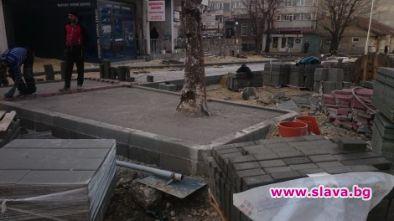 Бетонираха дървета при ремонта на варненската ул. Баба Тонка