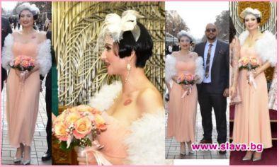 Пълна излагация със сватбената рокля на Софка