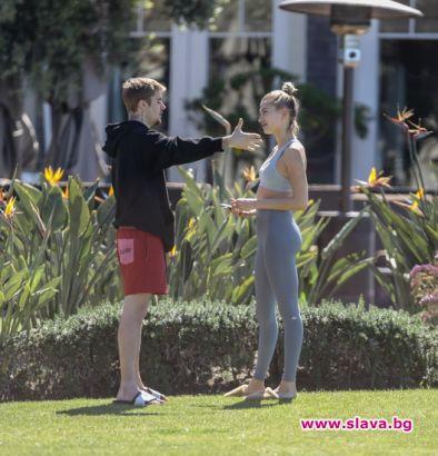 Бийбър и Хейли се карат в парка