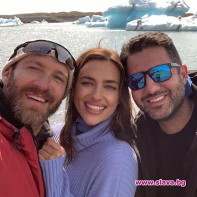 Ирина Шейк посети Исландия дни след раздялата с Брадли Купър