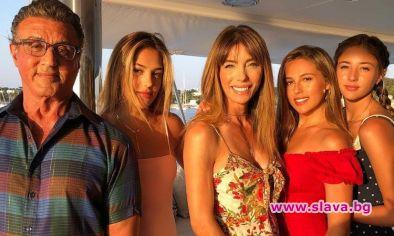 Силвестър Сталоун на семейна почивка в Хърватия