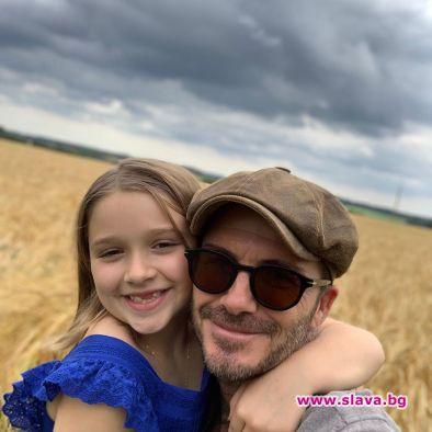 Харпър Бекъм стана на 8, баща й я помоли да не пораства