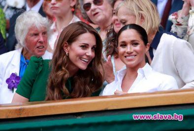 Меган и Кейт изгледаха заедно финала на Уимбълдън