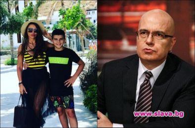 Алисия срещна сина си със Слави