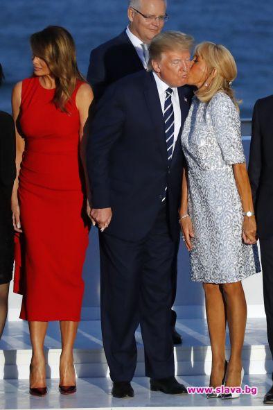 Стилът на Мелания Тръмп и Бриджит Макрон на срещата на Г-7