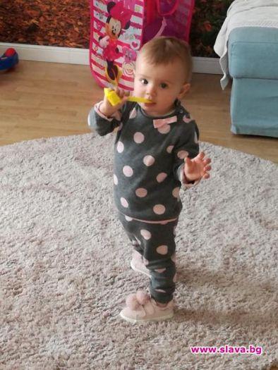 Дъщеричката на Мариана Попова проходи на рождения си ден