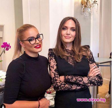 Жени Джаферович на премиера с Анджелина