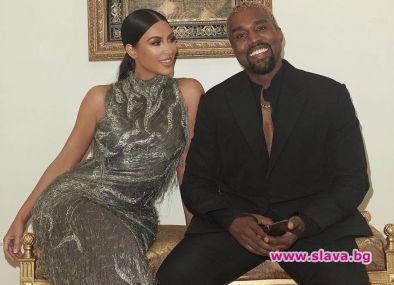 Ким и Кание подновиха брачните си обети