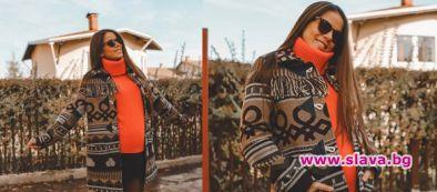 Теа на Нум в напреднала бременност и топли есенни цветове